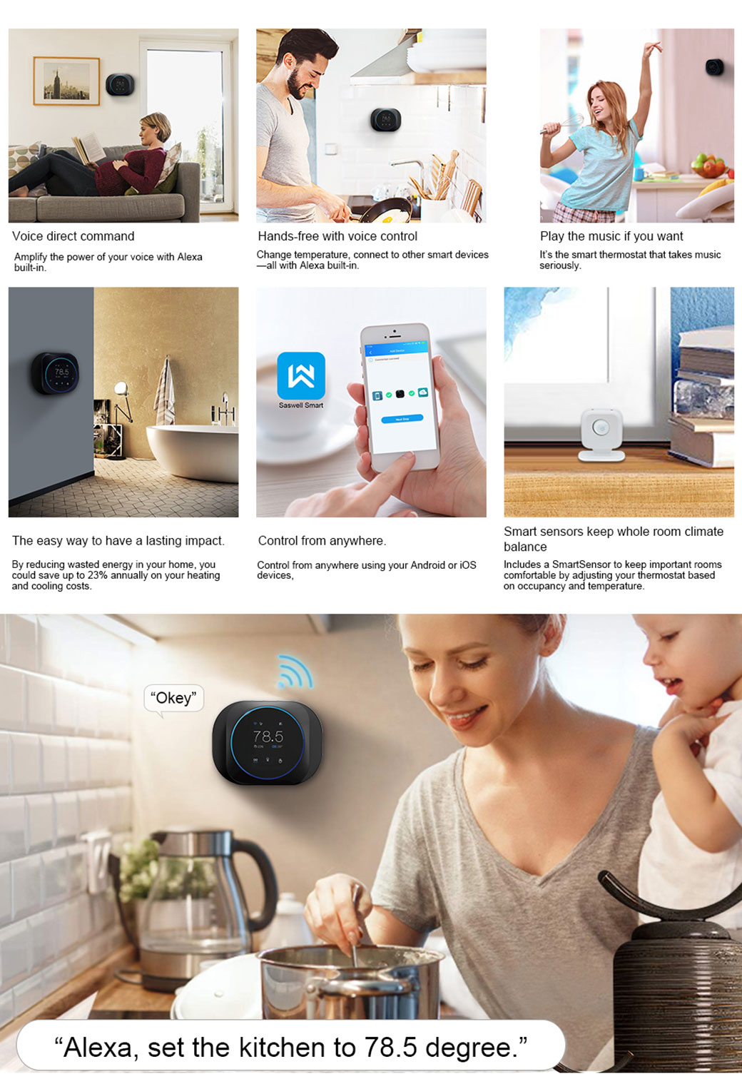 WIFI home thermostats